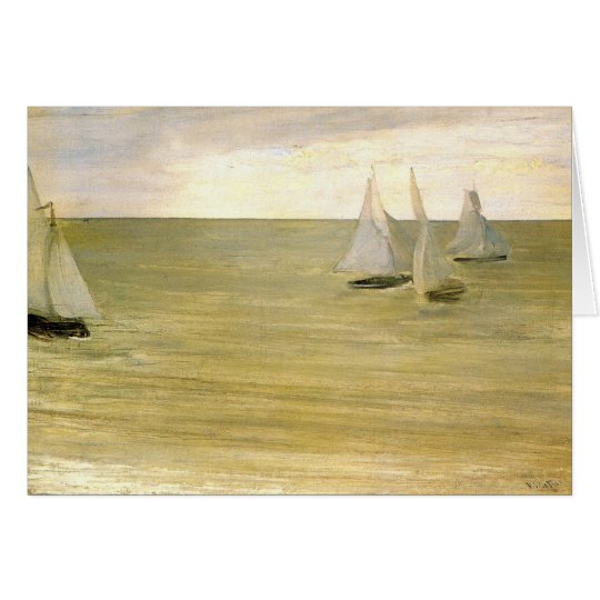 Grey and green the silver sea by Whistler Card
