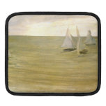 Grey and green the silver sea by Whistler iPad Sleeve