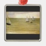 Grey and green the silver sea by Whistler Christmas Ornaments