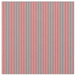[ Thumbnail: Grey and Light Coral Colored Stripes Fabric ]
