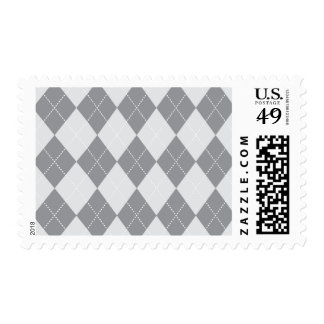 Grey and Light Grey Argyle Pattern Stamp