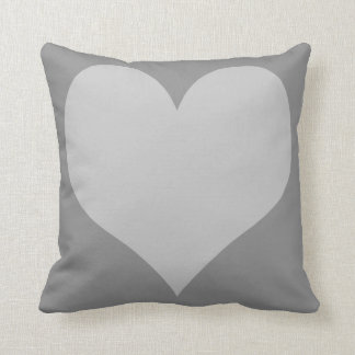 Grey and Light Grey Hearts Pillow