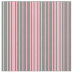 [ Thumbnail: Grey and Light Pink Stripes Pattern Fabric ]