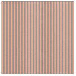 [ Thumbnail: Grey and Light Salmon Striped Pattern Fabric ]