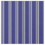[ Thumbnail: Grey and Midnight Blue Colored Pattern Fabric ]