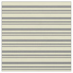 [ Thumbnail: Grey and Pale Goldenrod Pattern Fabric ]