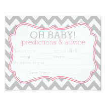 Grey and Pink Chevron Predictions & Advice Card