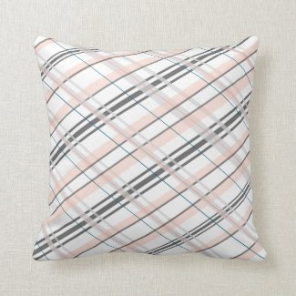 Grey and Pink Decorative Pillow