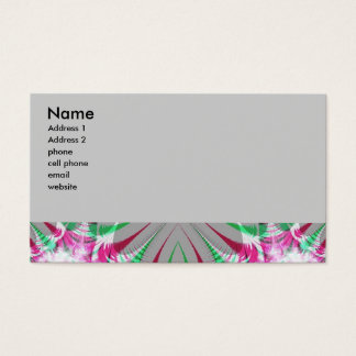 grey and pink fractal business card