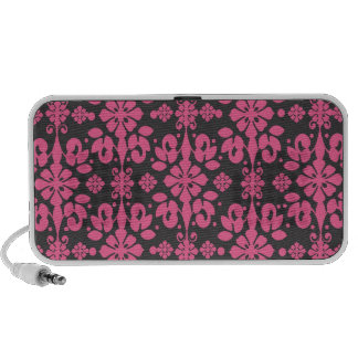 grey and pink shabby damask funky iPhone speaker