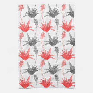Grey and Red Aloe - Personalize It! Kitchen Towel