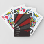 Grey and Red Fan Close Up Deck Of Cards