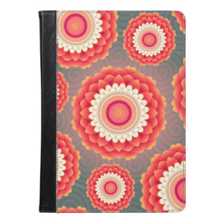 Grey and red Flower Case