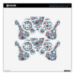 Grey and Red tiny stars PS3 Controller Decals