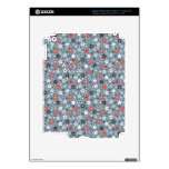 Grey and Red tiny stars Skins For iPad 3