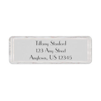 Grey and Rose Gold Marbled | Personalized Label