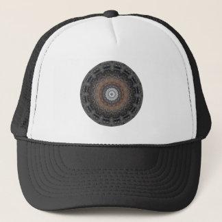 "Grey and Rust ""Silver Simplicity"" Mandala Trucker Hat"