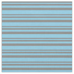 [ Thumbnail: Grey and Sky Blue Pattern Fabric ]