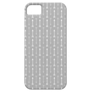 Grey and White Arrows Pattern iPhone SE/5/5s Case