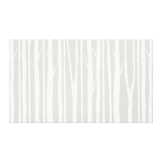 Grey and White Birch Trees Stretched Canvas Print