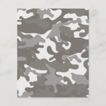 Grey and White Camouflage