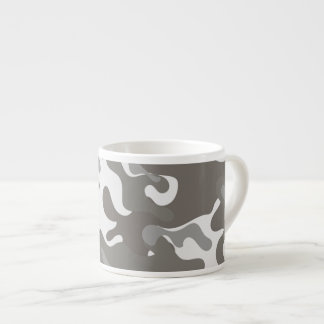Grey and White Camouflage Espresso Cup