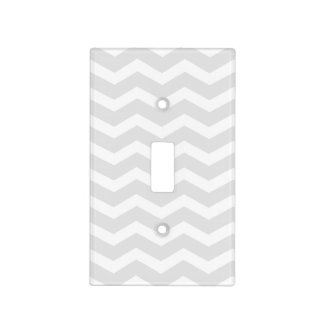 Grey and White Chevron Light Switch Plate
