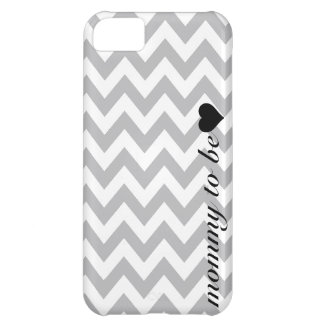 Grey and White Chevron Mommy To Be Cover For iPhone 5C