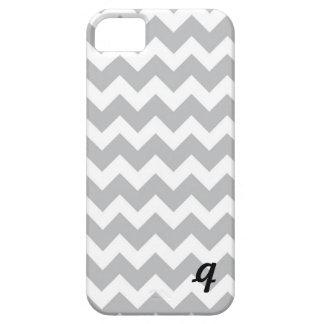 Grey and White Chevron Stripe iPhone 5 Case