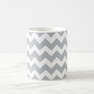Grey and White Chevron Stripe Coffee Mug