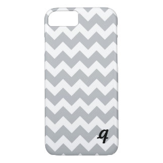 Grey and White Chevron Stripe iPhone 8/7 Case