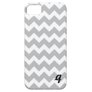 Grey and White Chevron Stripe iPhone SE/5/5s Case