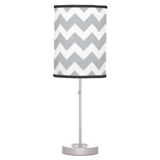Grey and White Chevron Stripe Desk Lamp