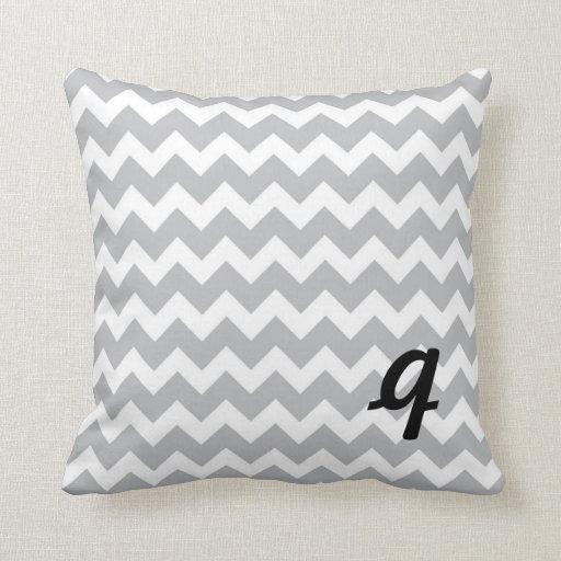 grey and white chevron stripe pillow zazzle. Black Bedroom Furniture Sets. Home Design Ideas