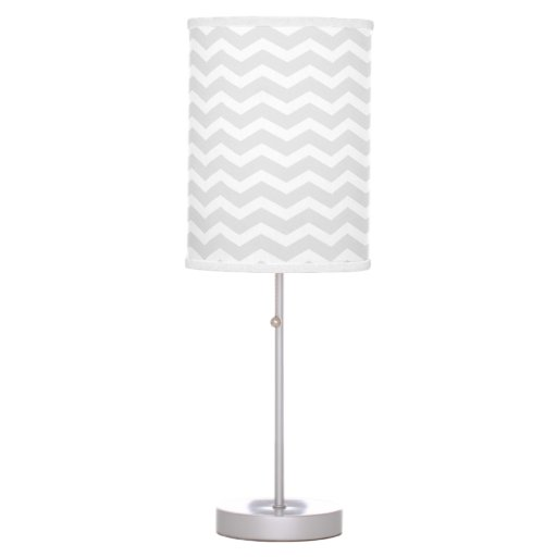 Grey And White Chevron Table Lamp