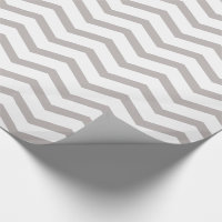 Grey and White Chevron Wrapping Paper