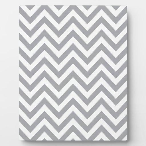 grey and white chevron zigzag pattern plaques zazzle