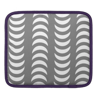Grey And White Crescent Moons Sleeves For iPads