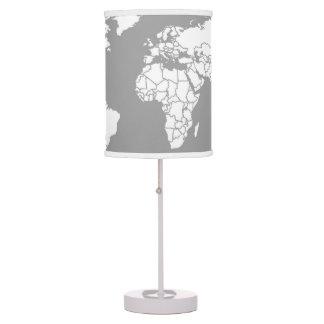 Grey and White minimalist travel inspired Lamp