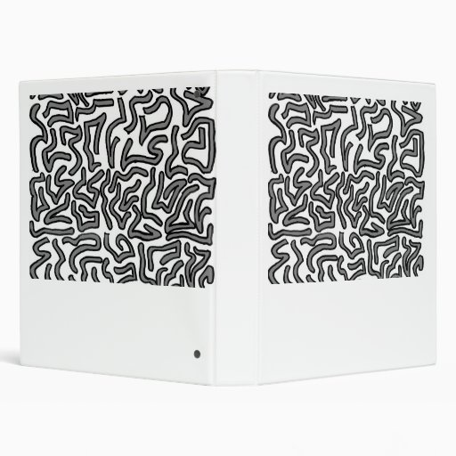 Grey and white noise doodle image graphic vinyl binder