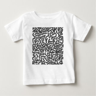Grey and white noise doodle image graphic infant t-shirt