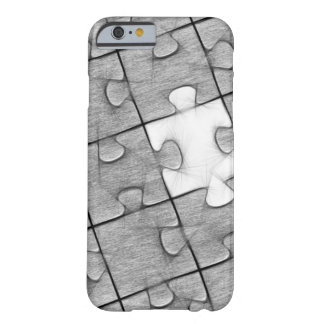 Grey and White Puzzle Pattern Phone Case