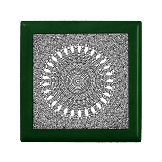 Grey and White Spiraling Vector Pattern Gift Box
