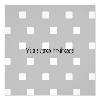Grey and White Squares Baby Shower Invitation