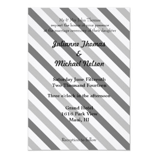 Grey and White Stripes Card