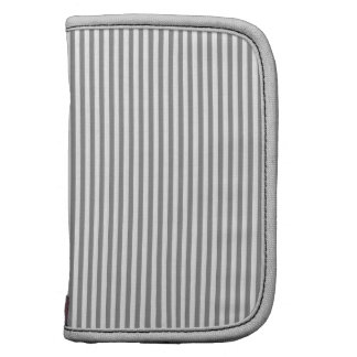 Grey and White Stripes Folio Planner