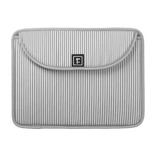 Grey and White Stripes Sleeves For MacBooks