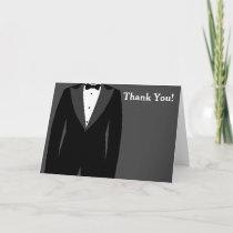 Grey and White Tuxedo Thank You