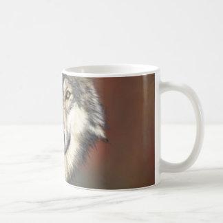 Grey and White Wolf Classic White Coffee Mug
