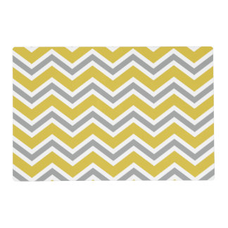Grey and Yellow Chevron Placemat